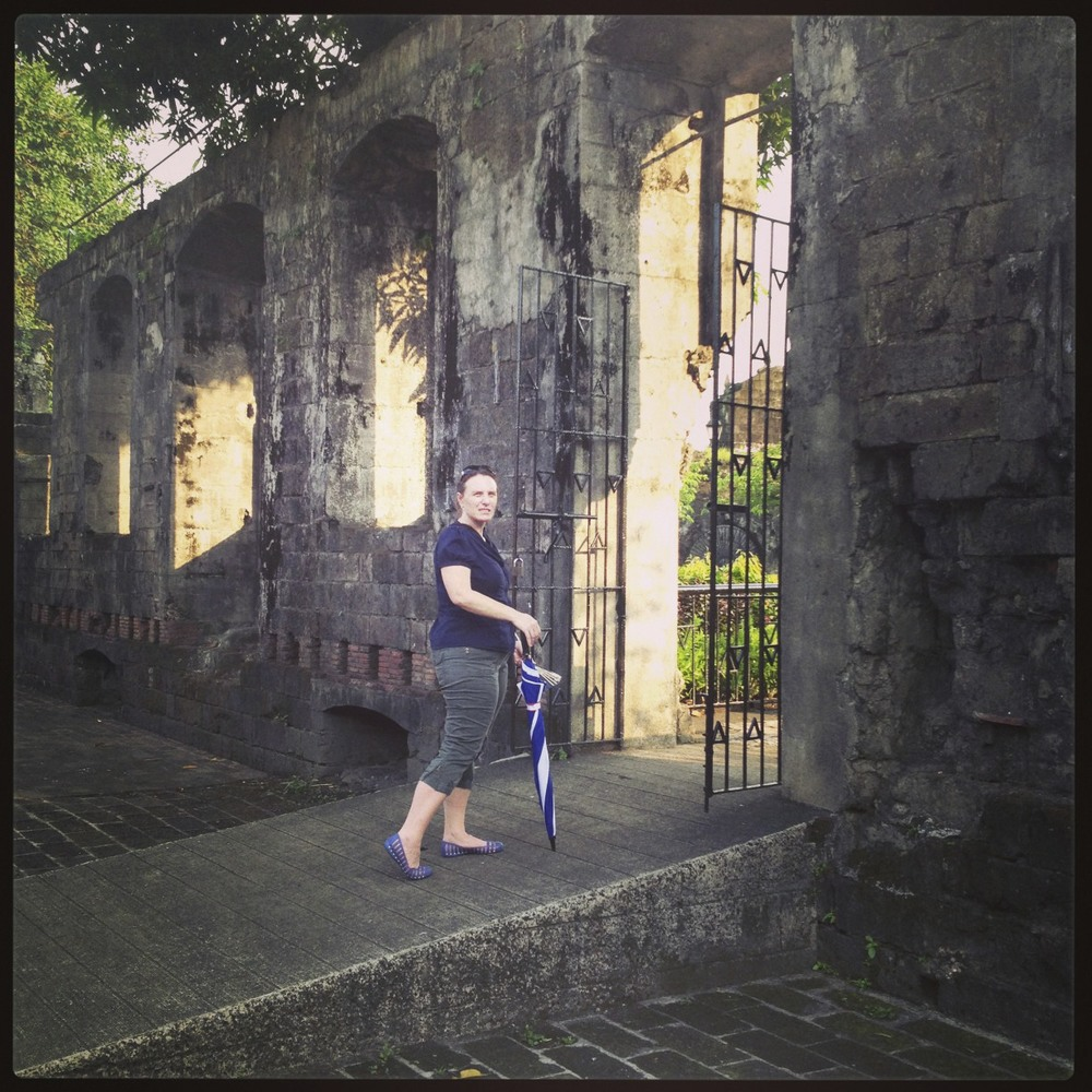 My friend Carrie-Anne at Fort Santiago