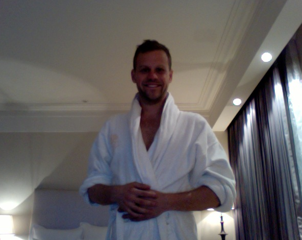 Bathrobey greetings from Shanghai, my home until Friday.