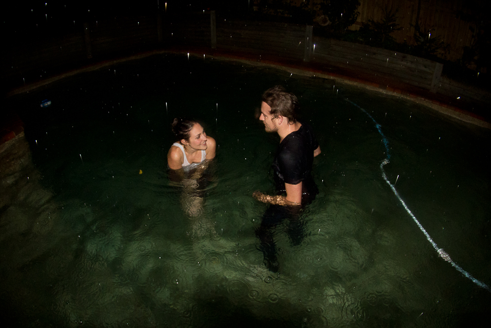Twas a good party indeed.    completelyfoolproof :     Night swim, summer rain.   Fully clothed.