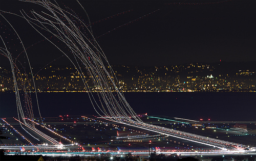 nprfreshair :     Plane trails [ more ] [via  coudal ]   SFO crunch (by  exxonvaldez )