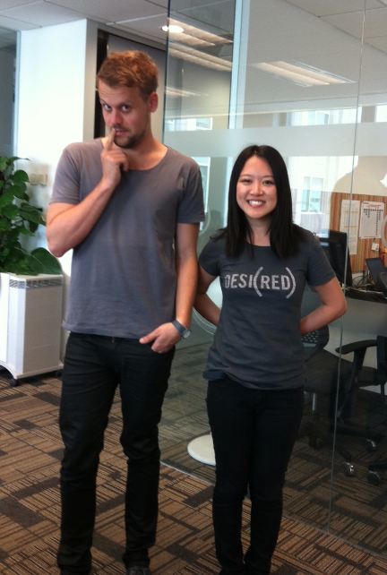Another day in the office…where Ning and I have subconsciously started dressing like each other.