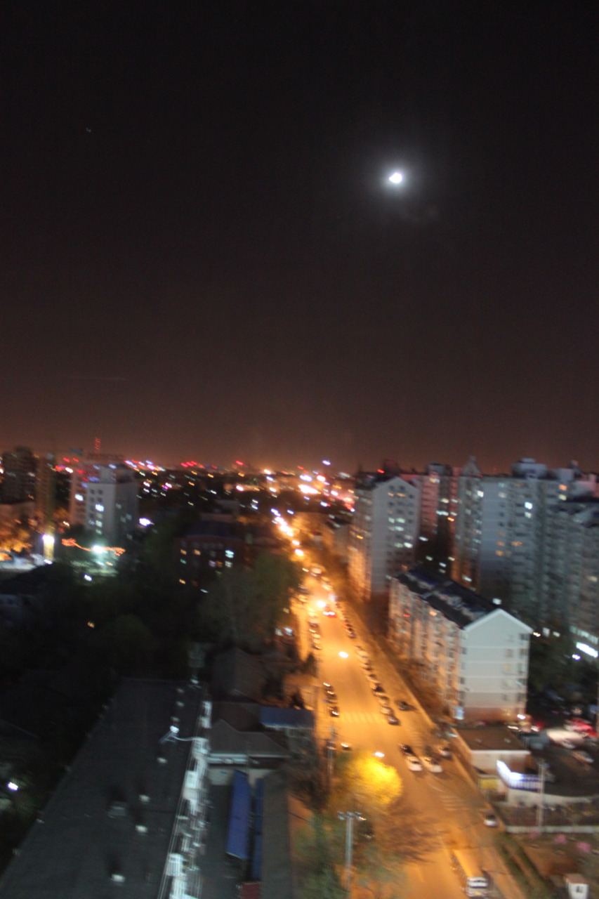 I think I love Beijing more at night.   West Dongzhimen, Beijing. Shot by Moi, April 2011.