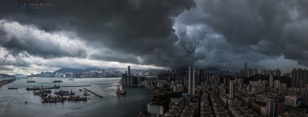 Typhoon Utor passing by Hong Kong
