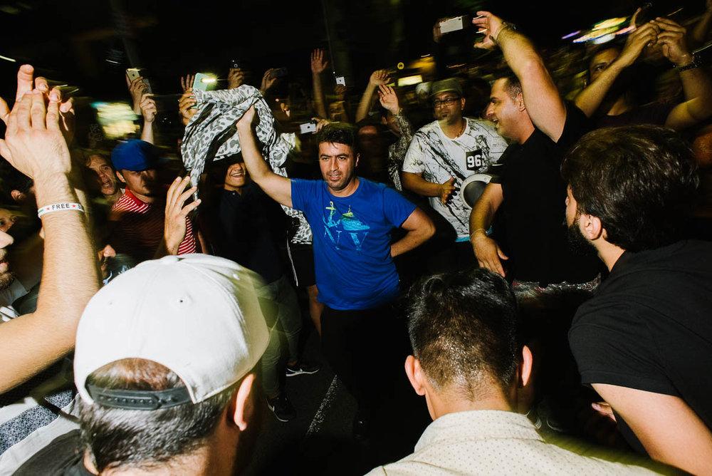 Dancing down Pitt Street