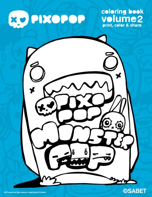 pixopop coloring book volume 2 digital download - Digital Coloring Book