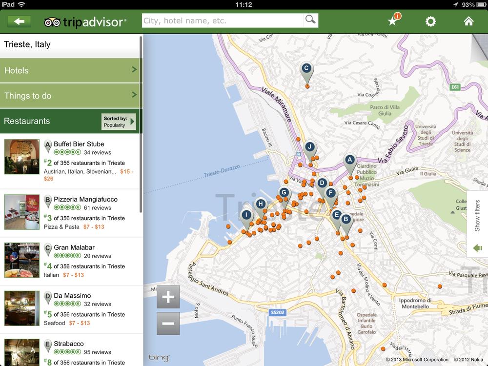 TripAdvisor צילום מסך: ניר חורש