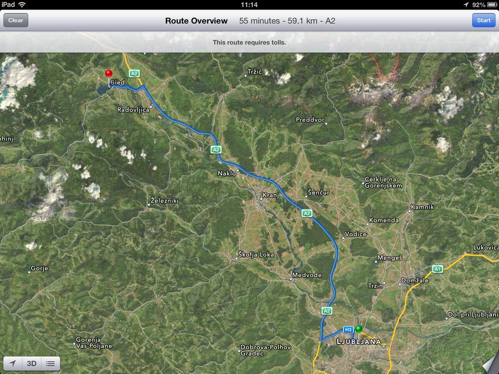 Apple Maps צילום מסך: ניר חורש