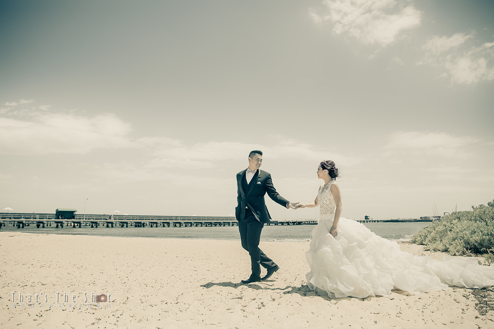 Middle Brighton Beach Wedding Photography