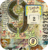 Numbers Art Journal Page
