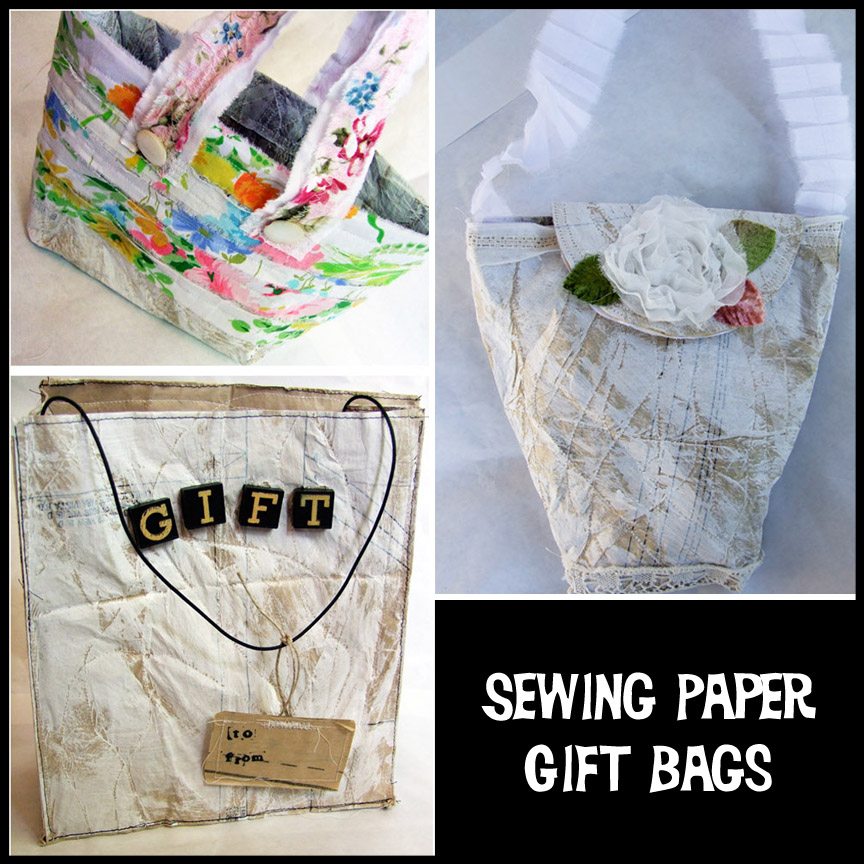 Sewing Paper Gift Bags Workshop $15