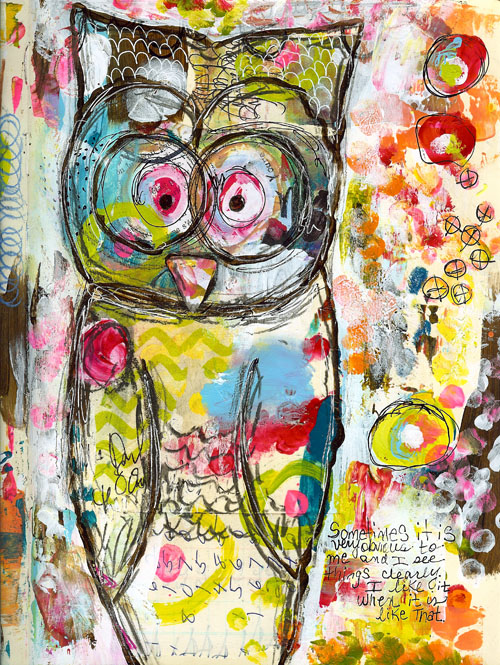 Art Journal Love Whoot Roben Marie Smith The