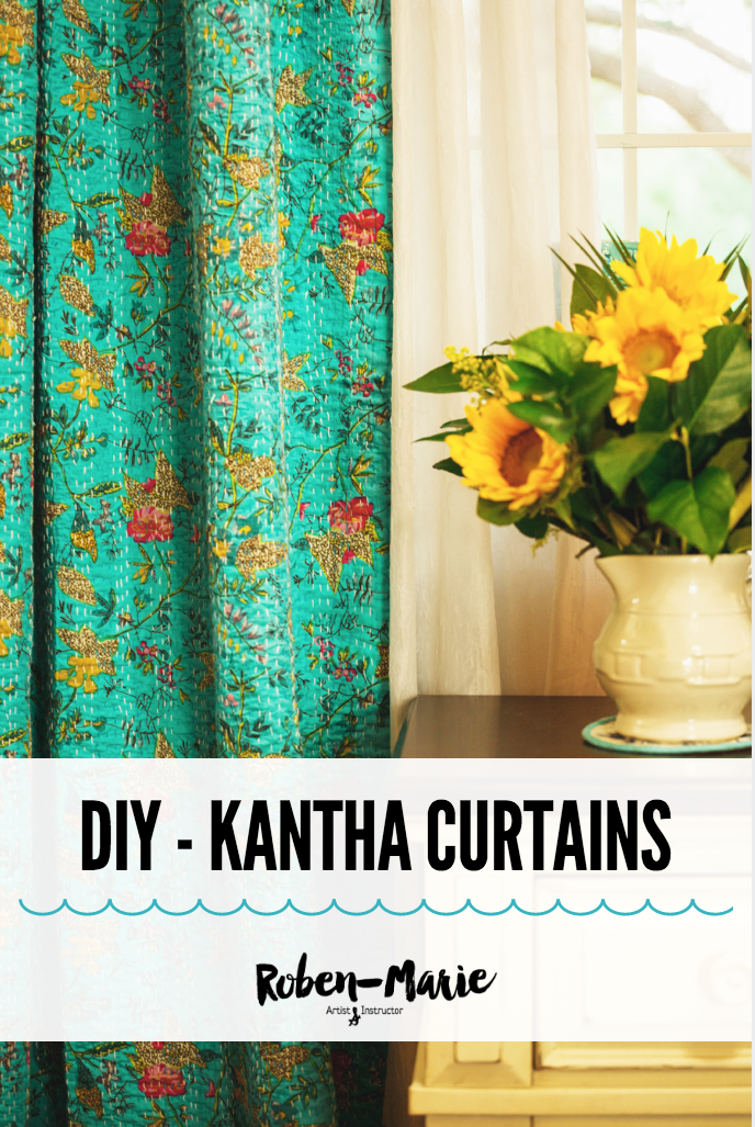 DIY - Kantha Quilt Curtains with Roben-Marie Smith.