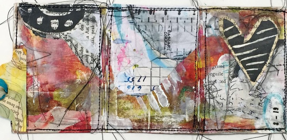 How to create a pocket art card tri-fold book with Roben-Marie Smith, featuring a video tutorial  with step-by-step directions.  Part of the Documented Life Project 2016 TheunPlanner hosted by Art to the 5th. @robenmarie