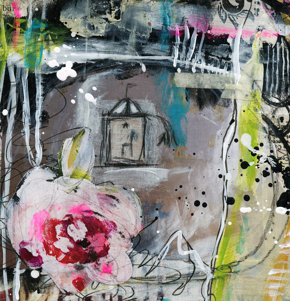 Paper to Painting: a Simple Approach to the Blank Canvas Workshop with Roben-Marie Smith.  Create art you'll love even if the blank canvas scares you!  @robenmarie #painting #mixedmedia #art www.robenmarie.com/blankcanvas