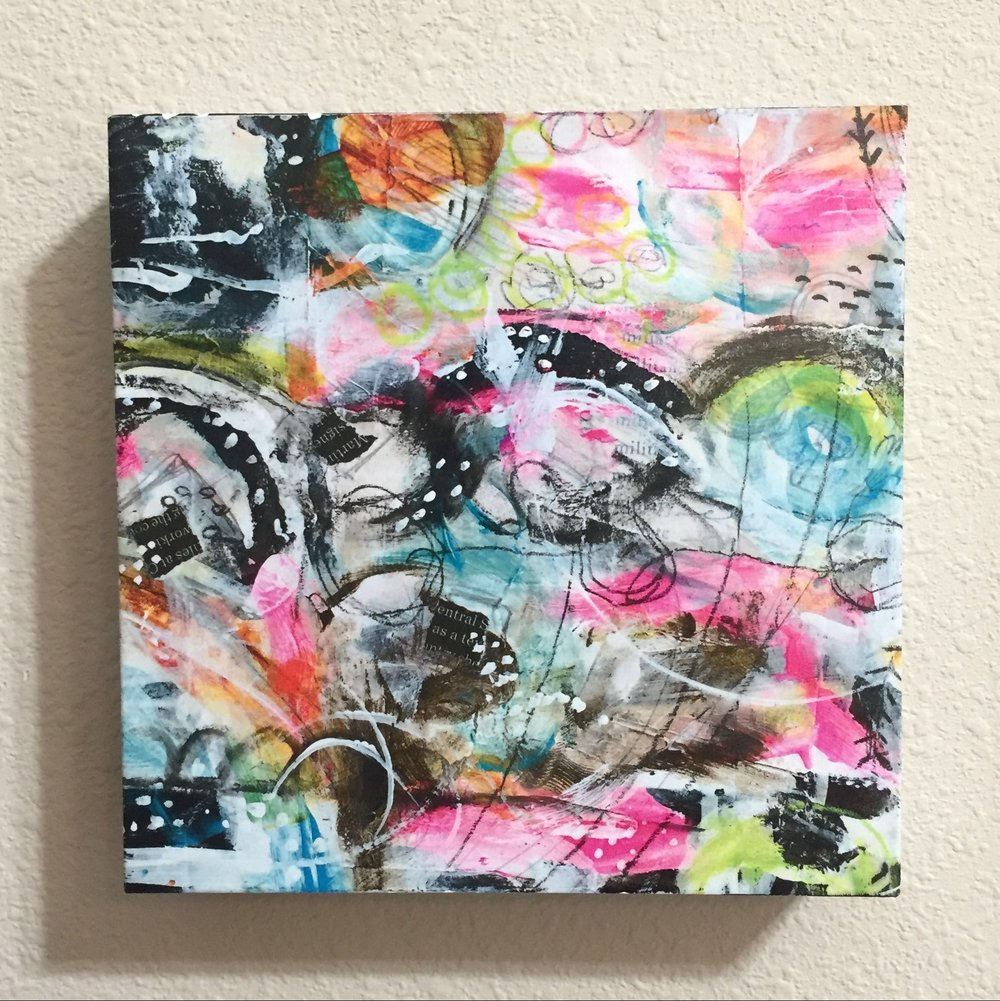 Mixed media wall art by @robenmarie #art #mixedmedia #painting