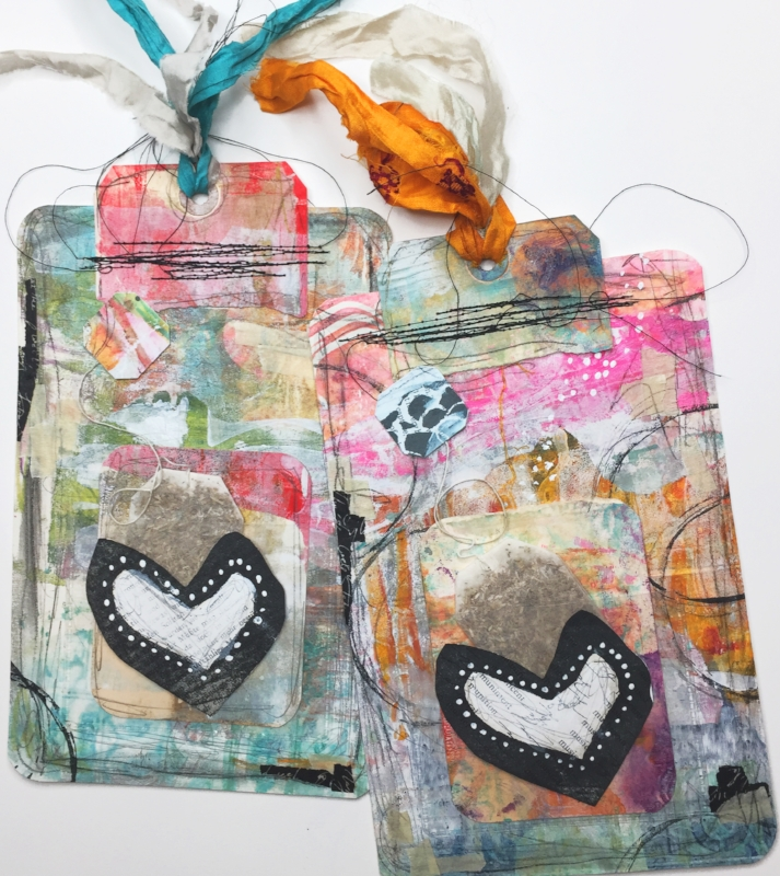Easy   Sweet Tea Valentine Video Tutorial with Roben-Marie Smith #diy #valentines #mixedmedia @robenmarie