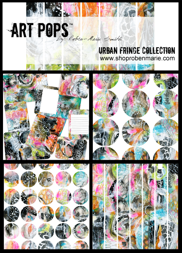 Urban Fringe Art Pops™ Collection by Roben-Marie Smith. @robenmarie   ART POPS™ provide bold, bright pops of color for your favorite projects, whether you're a scrapbooker, an art-journaler, a project-lifer, or a die hard planner addict.