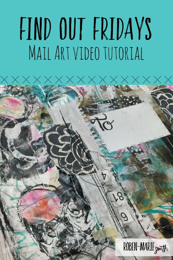 Join Roben-Marie Smith for a mail art tutorial video as part of Find Out Fridays with Donna Downey. @robenmarie #mixedmedia #mailart http://tinyurl.com/n2qo3po