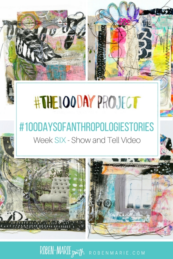 @robenmarie #the100dayproject and #100daysofanthropologiestories where I will take something from an Anthropologie catalog, create a mixed media piece around it and write a little story to go with it. @anthropologieFollow @robenmarie on Instagram for art and stories each day