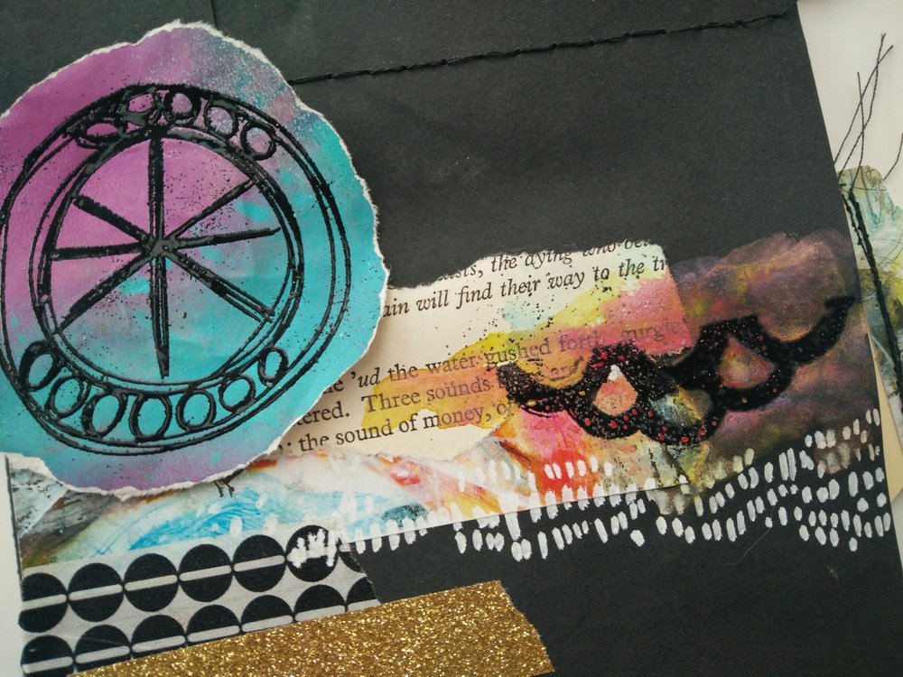 Design Team member Karen Gaunt transforms a simple envelope into a work of art in her Found Poetry Altered Envelope video tutorial. Be inspired as she uses stamps from Paperbag Studios and Art Pops™! Be Inspired! @karengaunt @robenmarie #robenmarie #robenmariedesignteam #paperbagstudios #artpops #mixedmedia #diy