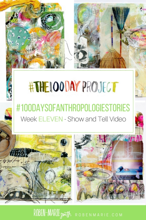 @robenmarie #the100dayproject and #100daysofanthropologiestories where I will take something from an Anthropologie catalog, create a mixed media piece around it and write a little story to go with it. @anthropologie Follow @robenmarie on Instagram for art and stories each day.