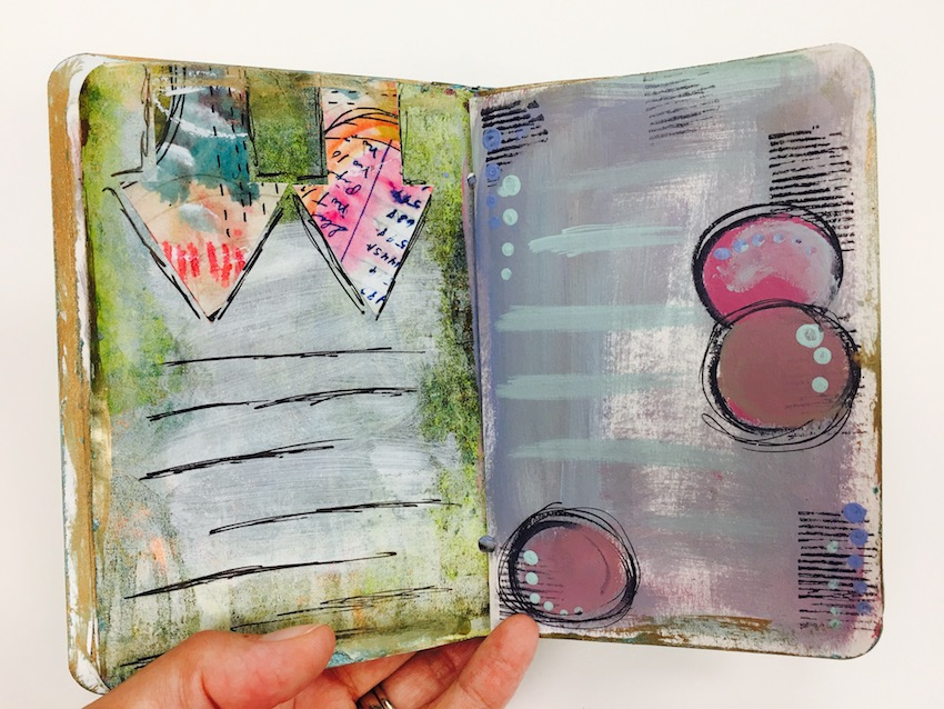 Design Team member Sherry Canino shares her gorgeous mini Inspiration journal with us for her design team project. Fill your own custom journal full of beautiful images to motivate and inspire you. She uses stamps from Paperbag Studios and Art Pops™ to create this gorgeous piece of Art! @robenmarie @sherrycanino #robenmarie #robenmariedesignteam #paperbagstudios #artpops #mixedmedia #diy