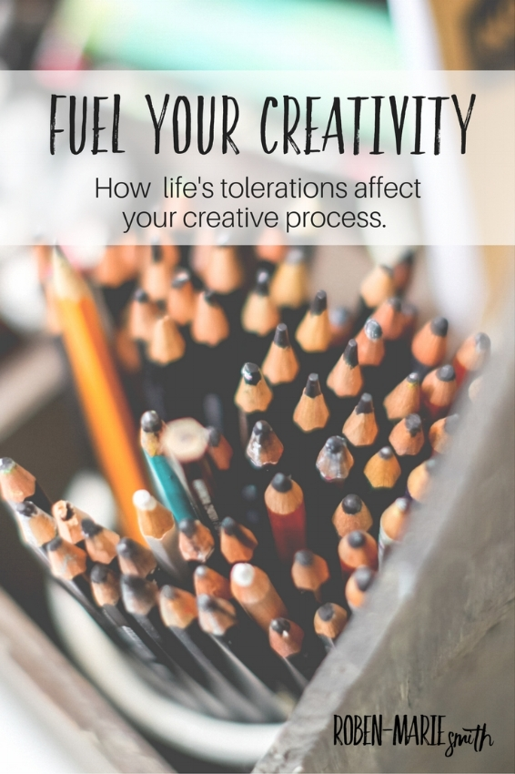 How to fuel your creativity (with tiny tweaks).  Dealing with life's tolerations and how they affect your creative process.  @robenmarie Article by Roben-Marie Smith #art #mixedmedia #creativeprocess