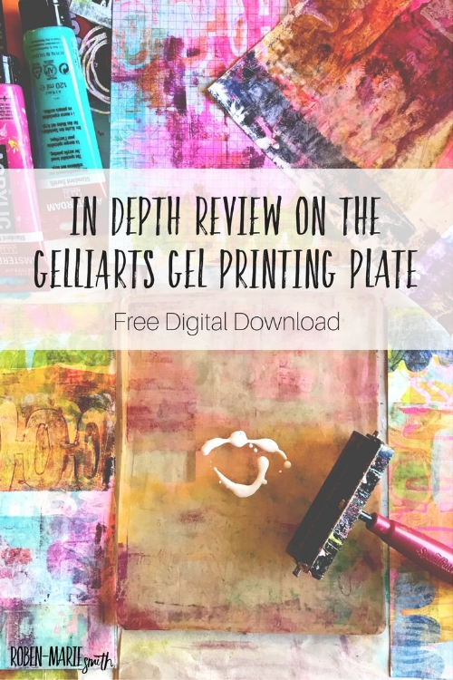 In depth review on the Gelli Arts Gel Printing Plate and a video tutorial on Roben-Marie Smith's segmenting and layering technique. Also, grab your free download of the post along with nine starter art tags. @robenmarie #gelliplate #printmaking #layeringwithpaint #gelliarts #printmaking #gelliprints #diy #colorlove #ilovecolor #robenmarie #robenmariesmith