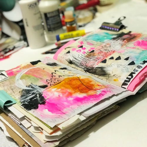 Taking time for rest is essential to the creative process with Roben-Marie Smith @robenmarie #creativity #robenmarie #robenmariesmith #artjournal