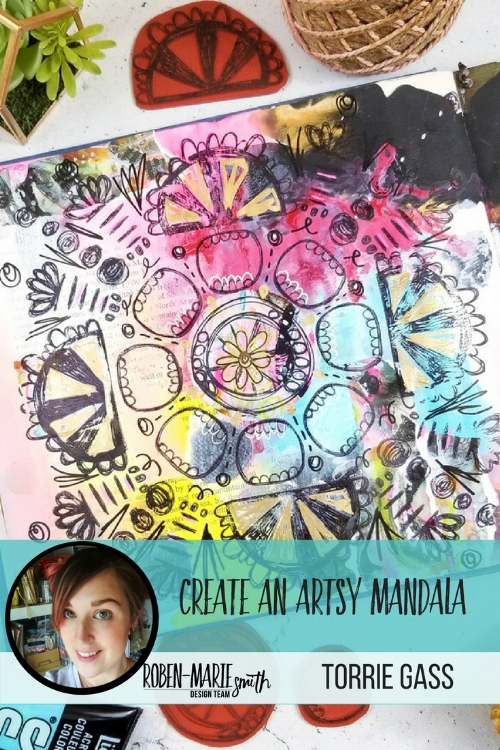 Check out this unique and artsy mandala by Design Team member Torrie Gass. Follow along with her video tutorial as she creates this beautiful page in her art journal. She uses Art Pops™ and Paperbag Studios Stamps to create this gorgeous layout! @robenmarie @foxandhazel #robenmarie #robenmariedesignteam #paperbagstudios #artpops #mixedmedia #diy #artjournal #artjournaling
