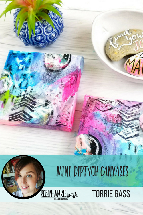 Check out this video tutorial as Design Team member Torrie Gass creates these beautiful diptych canvases as her project. Torrie takes you step-by-step through creating these colorful mini canvases. She uses Art Pops™ and Paperbag Studios Stamps. @robenmarie @foxandhazel #robenmarie #robenmariedesignteam #paperbagstudios #artpops #mixedmedia #diy
