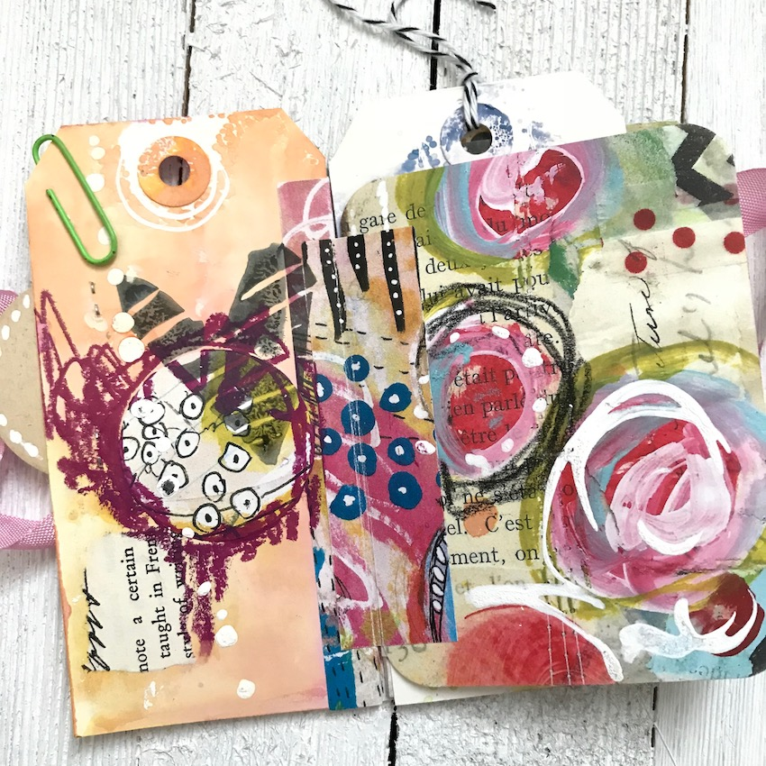 Check out this video tutorial as Design Team member Cindy Gilstrap creates this beautiful vintage style tag book as her project. Cindy takes you step-by-step through creating this gorgeous tag book with a real vintage flair to them. She uses Art Pops™ and Paperbag Studios Stamps. @robenmarie @junqueart #robenmarie #robenmariedesignteam #paperbagstudios #artpops #mixedmedia #diy