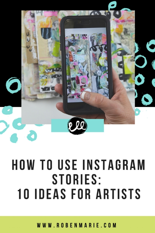 Yet to discover the brilliance of Instagram Stories, or hit a slump with ideas of what to post? Capture the attention of the 200 million people who use Instagram Stories daily with my 10 story ideas for artists. From time lapse video art, to a tour of your studio, tell the story of you and your business and get people flocking to your art. Get 10 ideas for your Instagram Stories and share your art and story today! #robenmariesmith #robenmarie #instagram #instragramstories #techsavvyartist