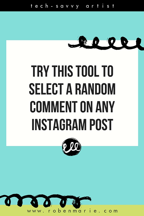 Ever run a giveaway on Instagram and then wonder how to best select a winner from the comments and keep it legit? Look no further than Pickerist. This handy tool will easily select a random winner comment from any Instagram post. @robenmarie #robenmarie #techtip #instagram #instagramtip #pickeristapp