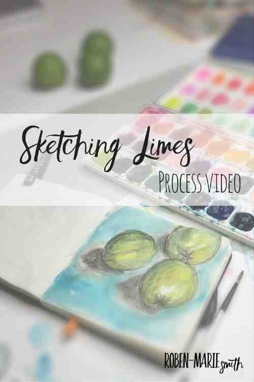 Sketching Limes Process Video with @robenmarie http://stfi.re/djjogzx