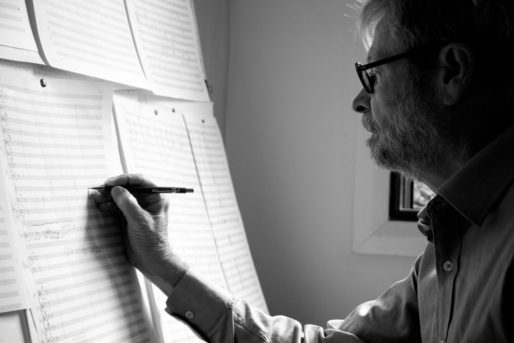 Ross Edwards at work. Photo by Michael Mortlock