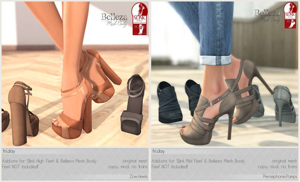 These shoes have been updated to work with the new Belleza Mesh Body!