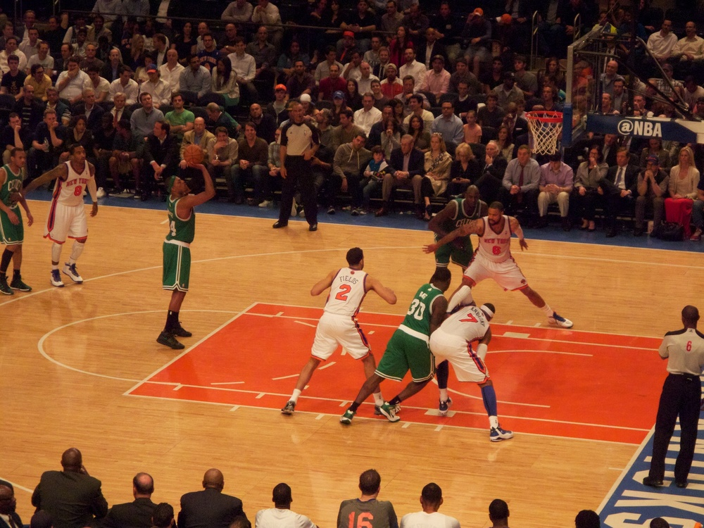 Knicks vs. Celtics at the Garden