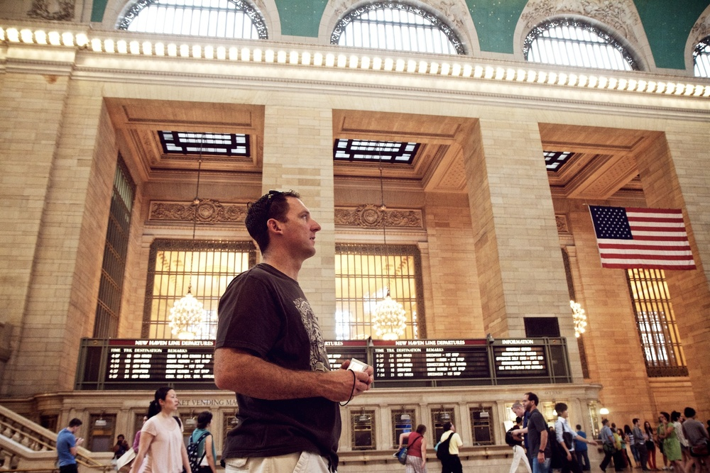 Matt in Grand Central Station