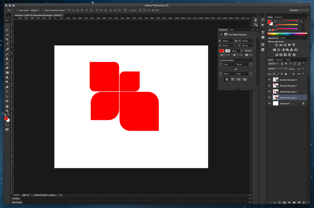 Editable Rounded Rectangles in Photoshop CC