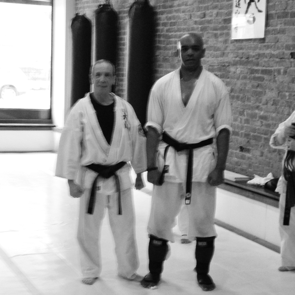 With Shihan Alfred DiGrazia after the Black Belt Test