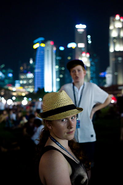 Lily & Charlie, Padang, Singapore Grand Prix, Sept 2011