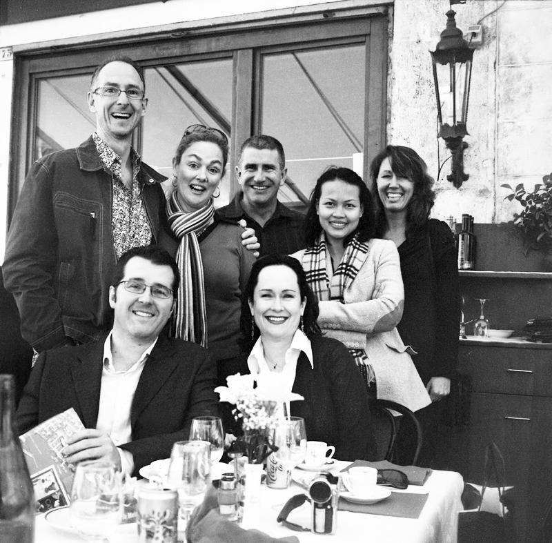 Colin, Pip, Charlo, Rima, Robin, Matt & Trudy, Venice, Sept 2008