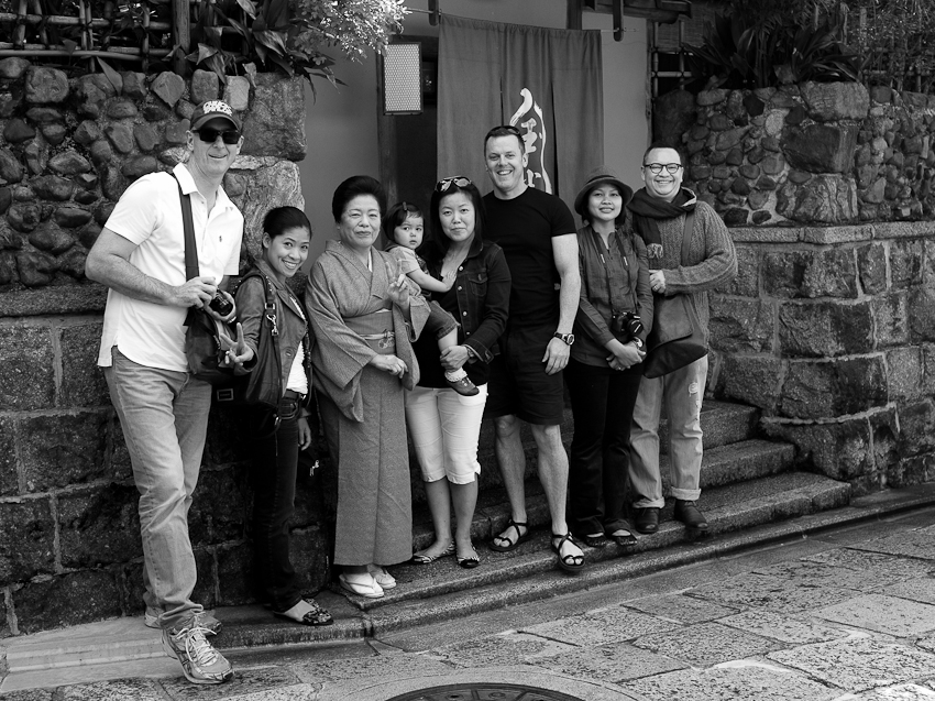 The gang, Kyoto, Oct 2012