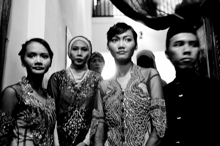 Shelly, Hanum, Vina, Farmi before Len's wedding, Jakarta, February 2012
