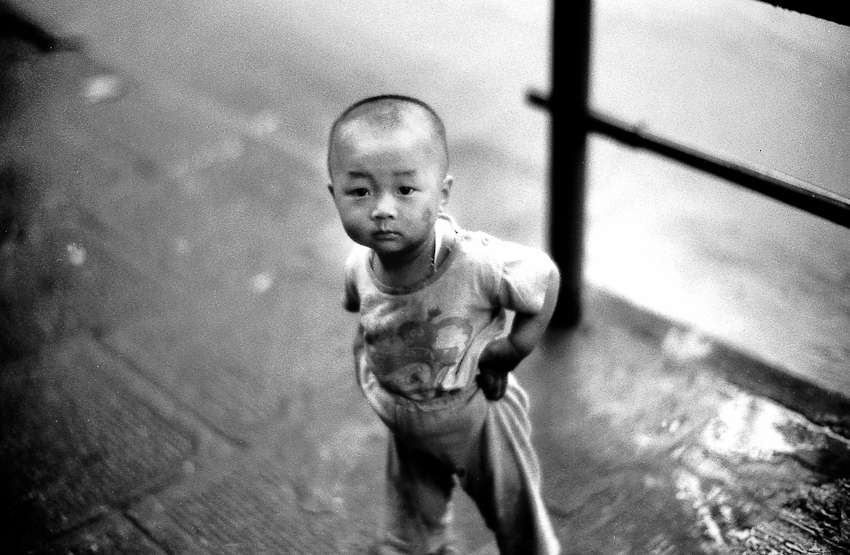 Kid after ablutions, Shanghai 2004