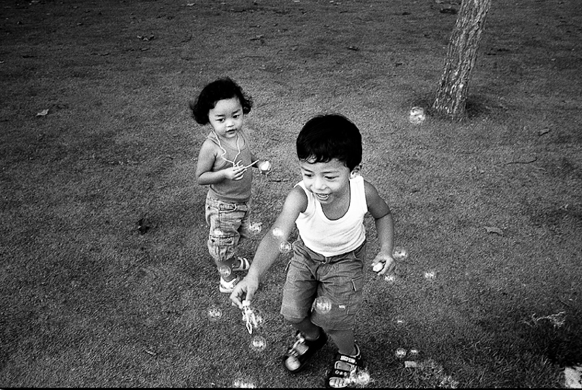 Children with Bubbles, East Coast, Singapore