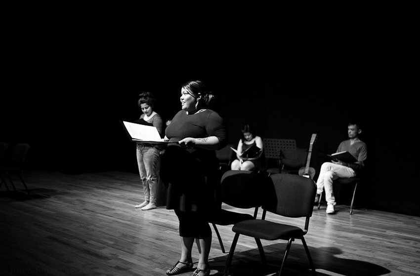 Poets Pooja Nansi, Tania de Rozaria, Jollin Tan & Cyril Wong