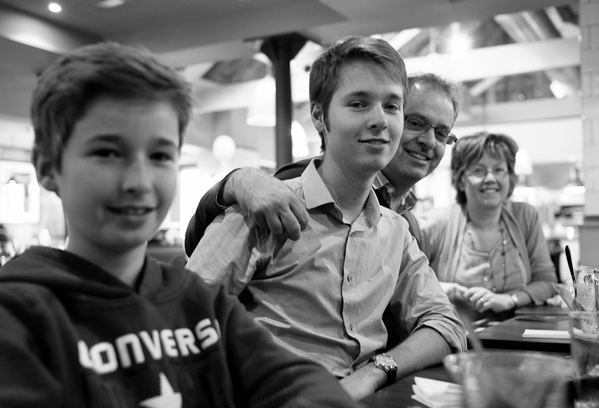 Isaac, Joel, Marcus & Judy, June 2013