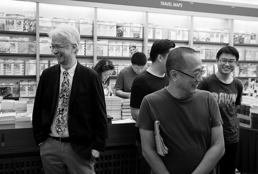 Kenny Chan (Kinokuniya), Edmund Wee (Epigram Books) & Sonny Liew before the launch